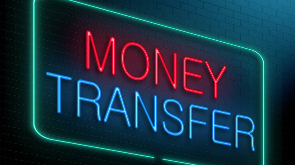 Money Transfer Neon Sign